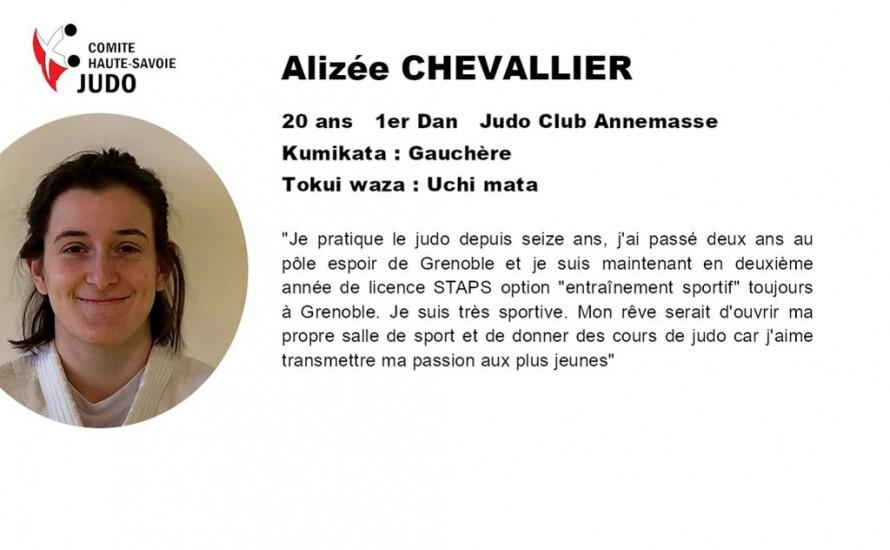 Présentations des candidats au CQP. Alizée CHEVALLIER